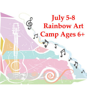 Rainbow Art Camp, ages 6 and up - Monday-Thursday 9:00am - 11:000am