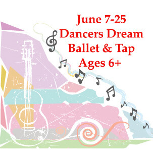 Dancers Dream Ballet & Tap - In Person Monday-Thursday 10:30am-12:00pm