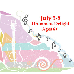 Drummers Delight, ages 6 and up - Monday-Friday 9:00am - 10:30am