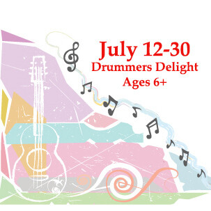 Drummers Delight, ages 6 and up - In Person Monday-Friday 9:00am - 10:30am