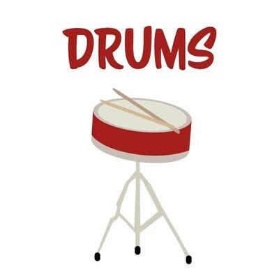 Beginning Drums* - Fridays 5:00pm-5:45pm