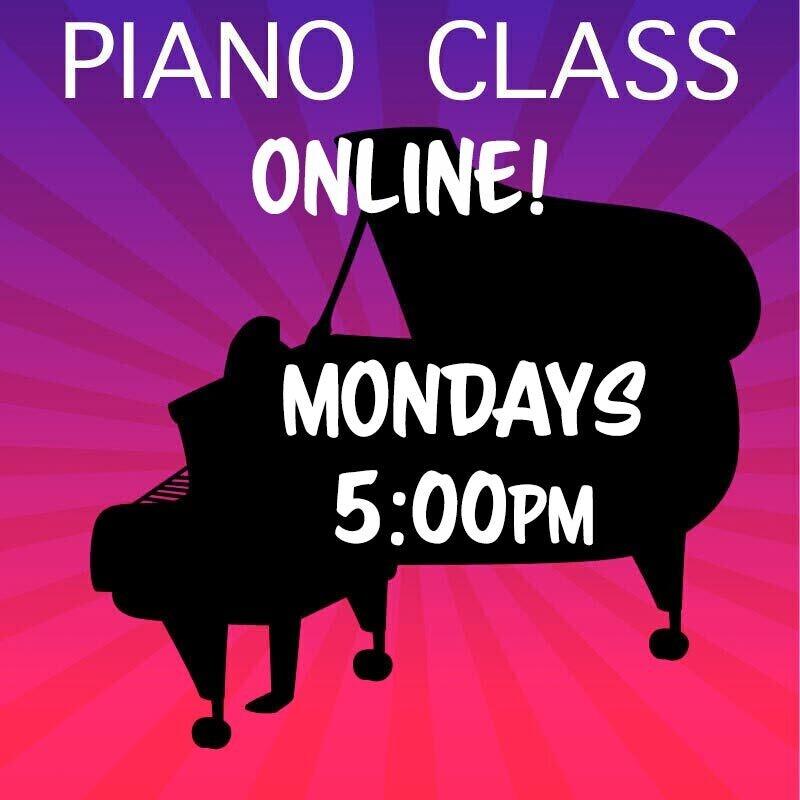 Piano ONLINE - Mondays 5:00pm - 5:45pm