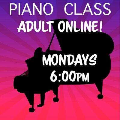 Piano Adult ONLINE - Mondays 6:00-6:45pm