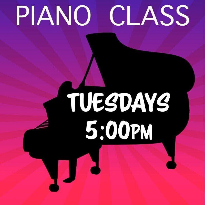 Piano - Tuesdays 5:00-5:45pm