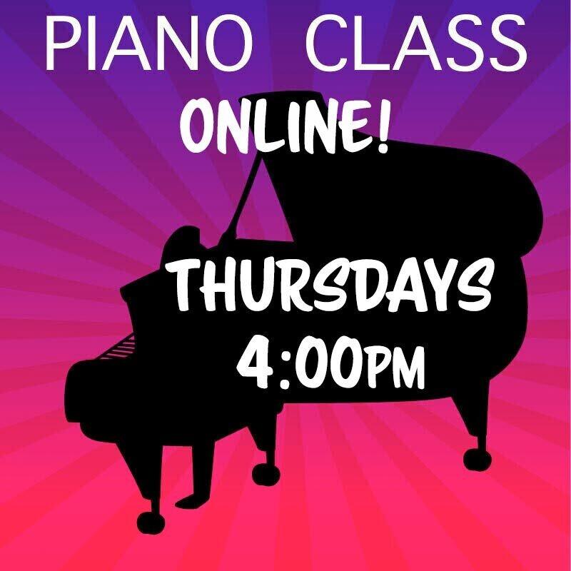 Piano ONLINE - Thursdays 4:00pm - 4:45pm