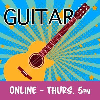 Guitar ONLINE - Thursdays 5:00pm-5:45pm