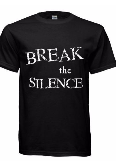 Youth Break the Silence Black Tshirts