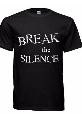 Unisex Break the Silence Black Tshirts