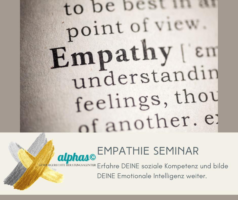 Empathie Seminar alphacoaching© AKADEMIE