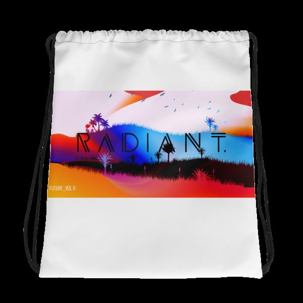 RADIANT. Drawstring bag White
