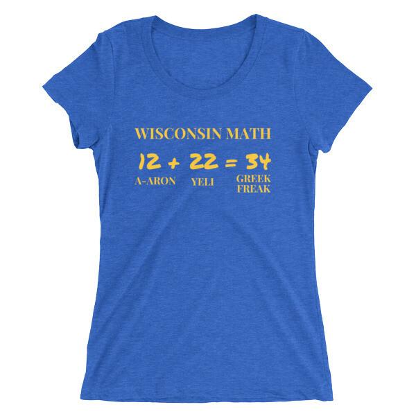 Women's Wisconsin Math Tee