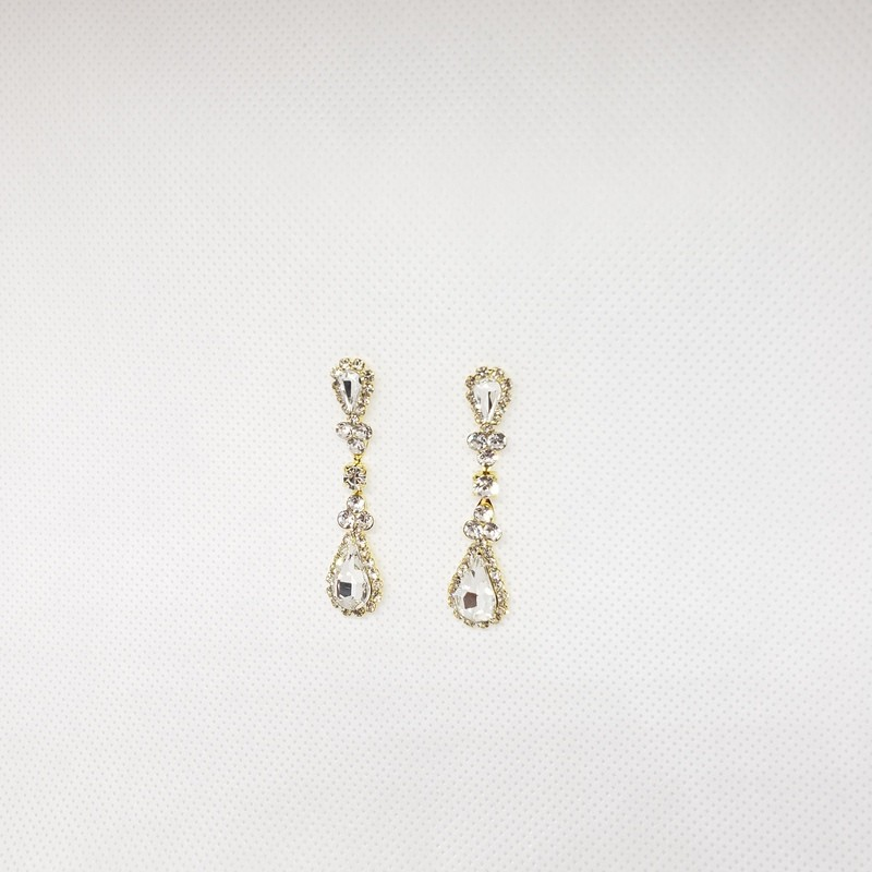 Earrings Crystals Gold