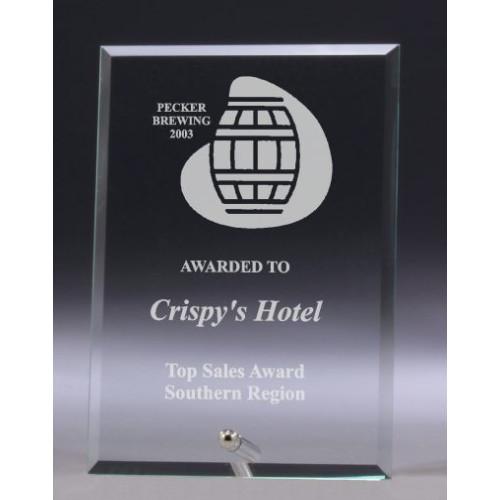 Clear Glass Plaque Award – W611S, W611M, W611L