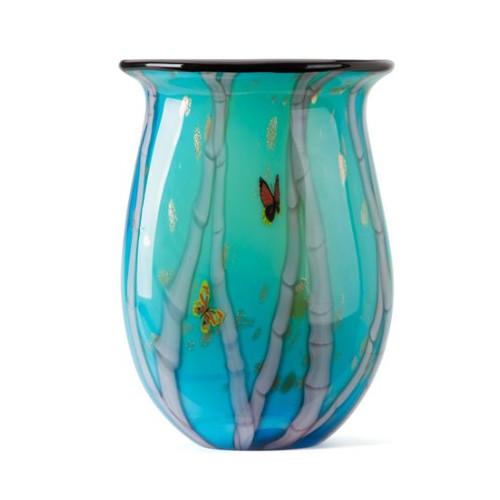 Coloured Glass Bamboo Artist Vase by Zibo