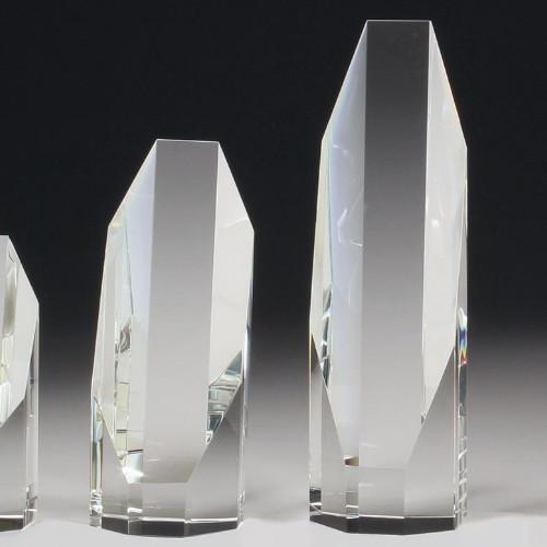 Crystal Octagon Glass Trophy – CC643S, CC643M & CC643L