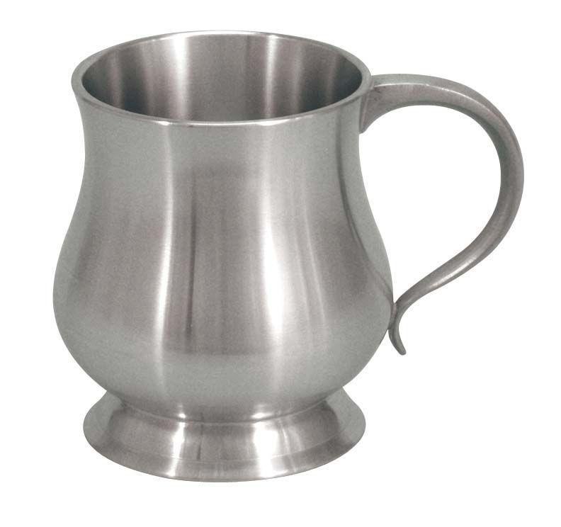 Engraved Pewter Georgian Baby Mug 5oz