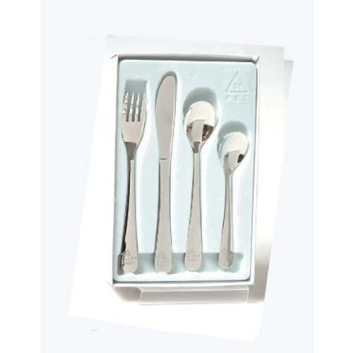 Engraved Stainless Steel 4 Piece Duck Cutlery Set