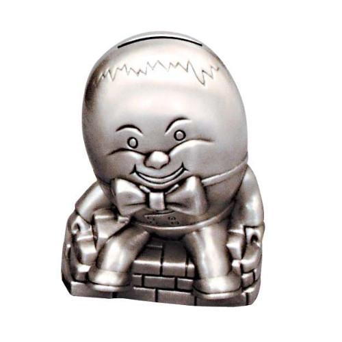 Engraved Humpty Dumpty Pewter Money Box
