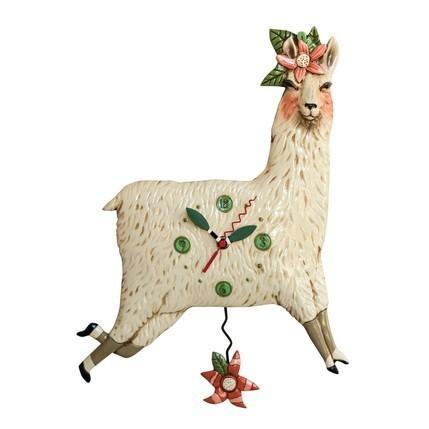 'Llama Love' Allen Designs Pendulum Clock