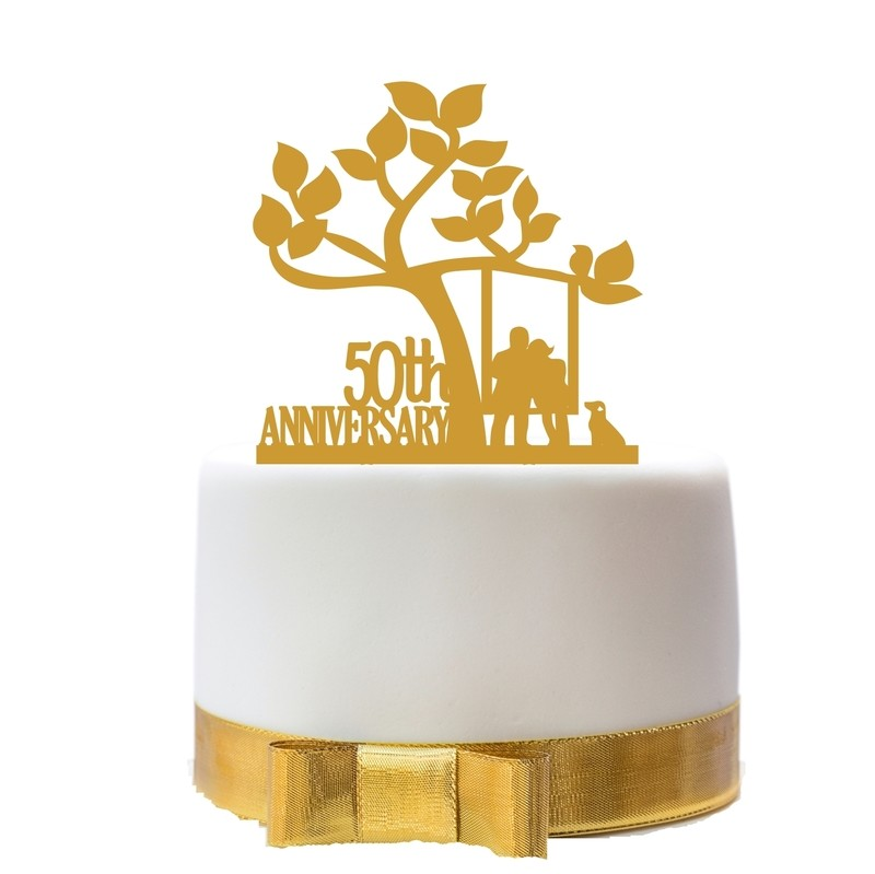 Anniversary Cake Topper Design 1