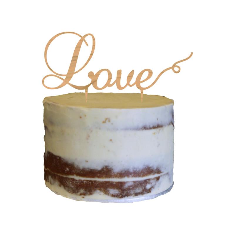 Love Cake Topper Design 2