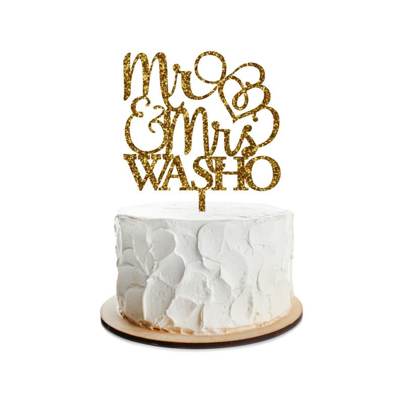 Wedding Cake Topper Design 4
