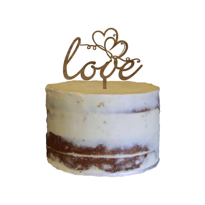 Love Cake Topper Design 3