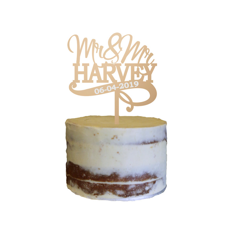 Wedding Cake Topper Design 7