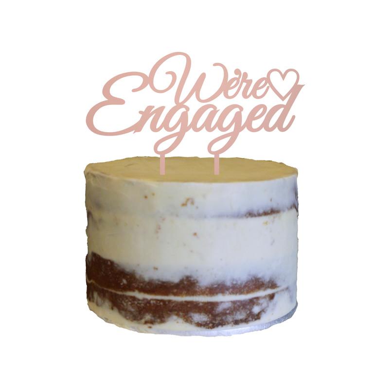 Engagement Cake Topper Design 1