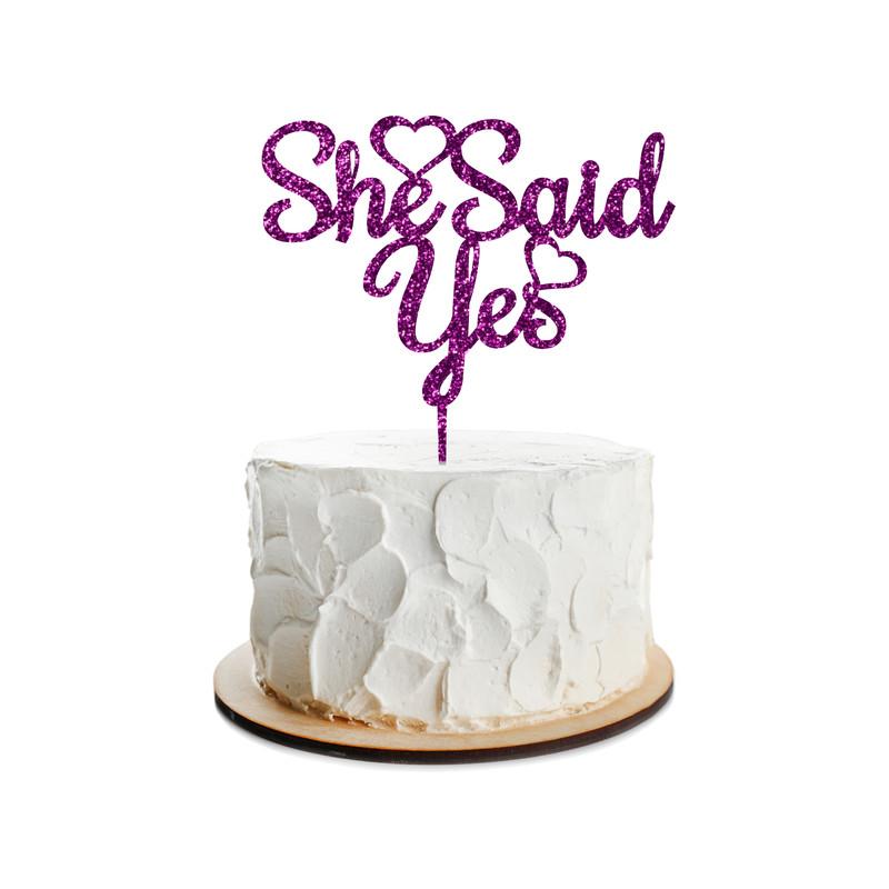 Engagement Cake Topper Design 3