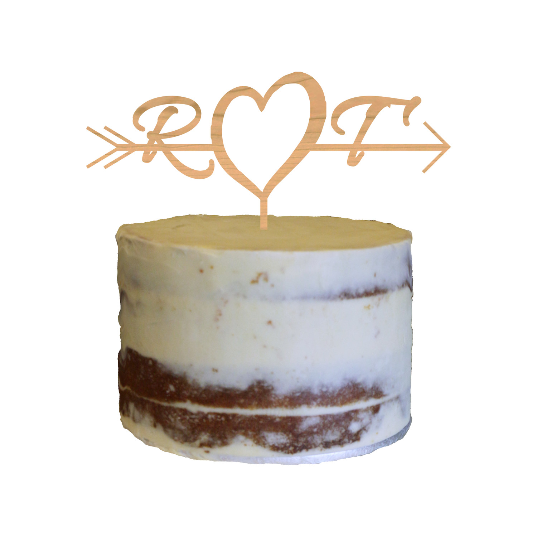 Engagement Cake Topper Design 4