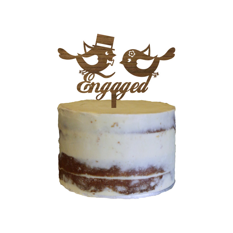 Engagement Cake Topper Design 5
