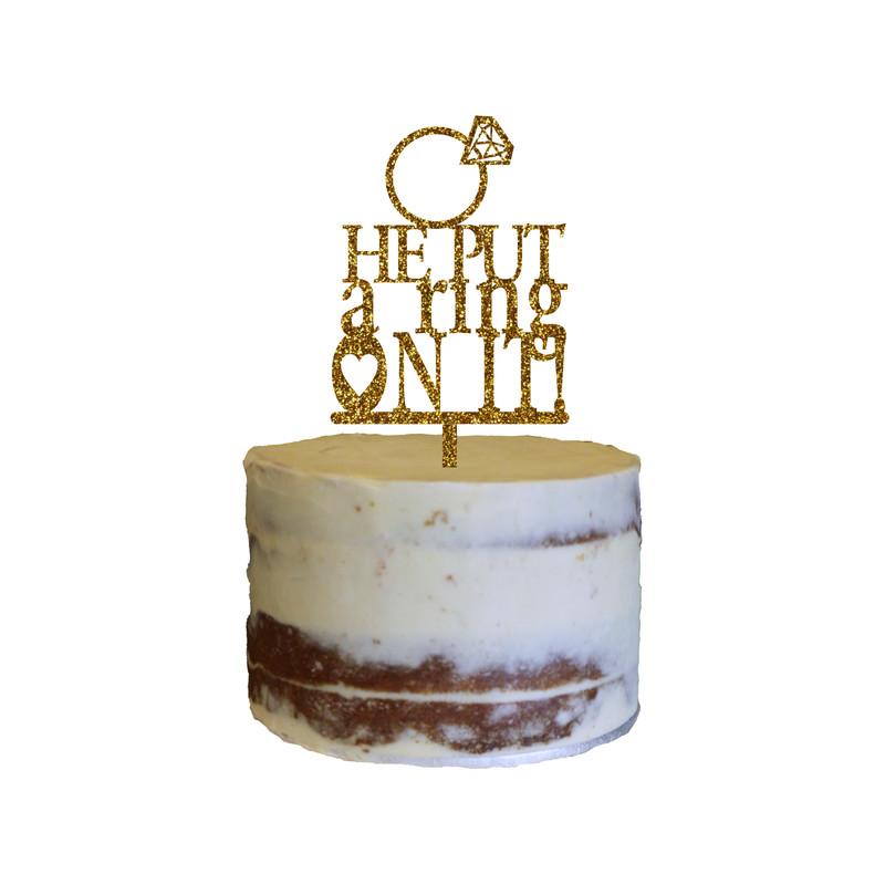 Engagement Cake Topper Design 6