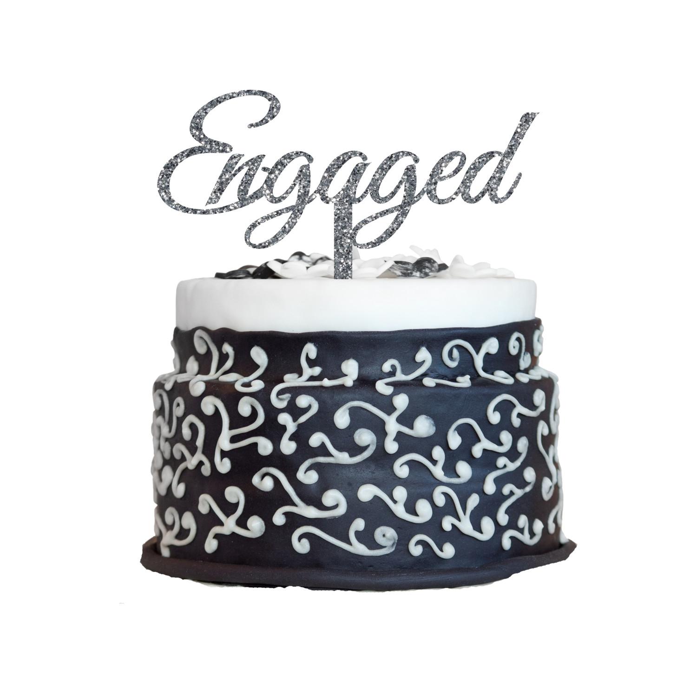 Engagement Cake Topper Design 7