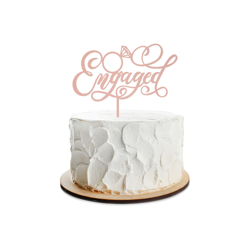 Engagement Cake Topper Design 8