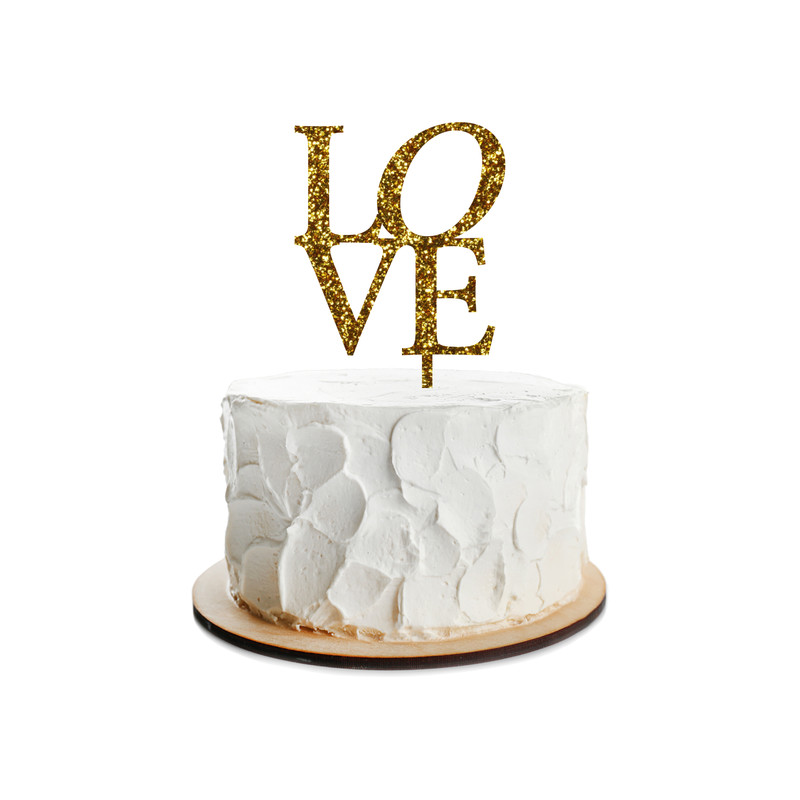 Love Cake Topper Design 1