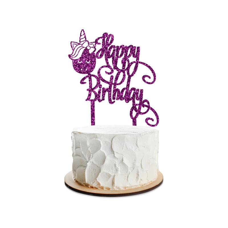 Birthday Cake Topper Unicorn Design 15