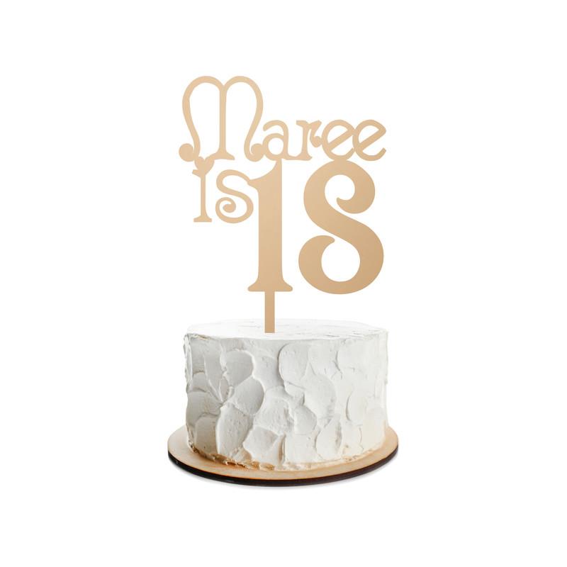 Birthday Cake Topper Design 22