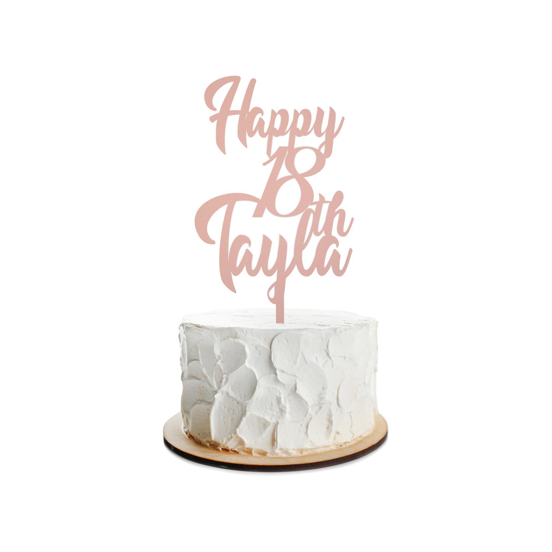Birthday Cake Topper Design 24