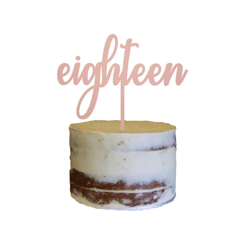Birthday Cake Topper Design 25