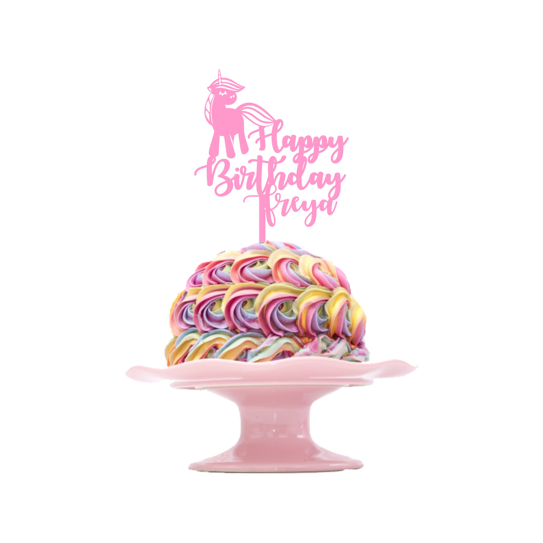 Children's Birthday Cake Topper Design 1 - Unicorn