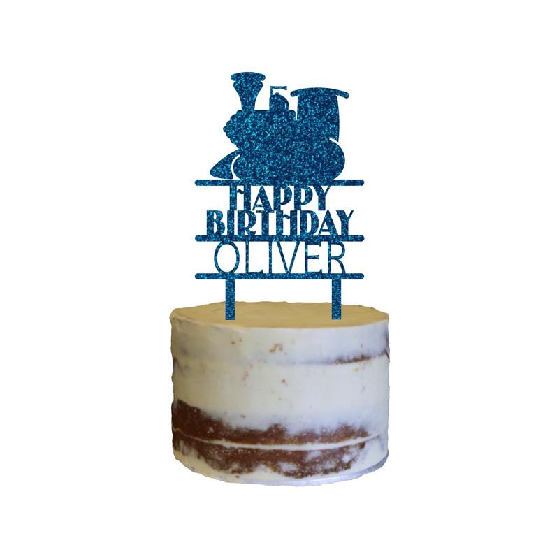 Children's Birthday Cake Topper Design 3 - Train