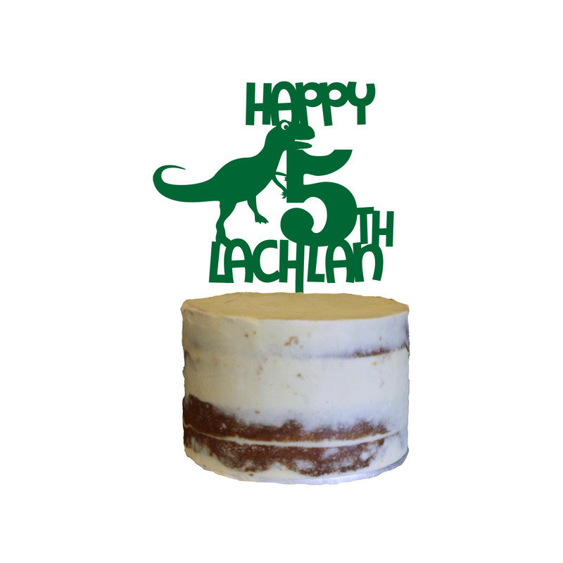 Children's Birthday Cake Topper Design 2 - T Rex