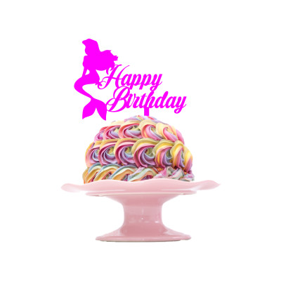 Children's Birthday Cake Topper Design 7 - Mermaid