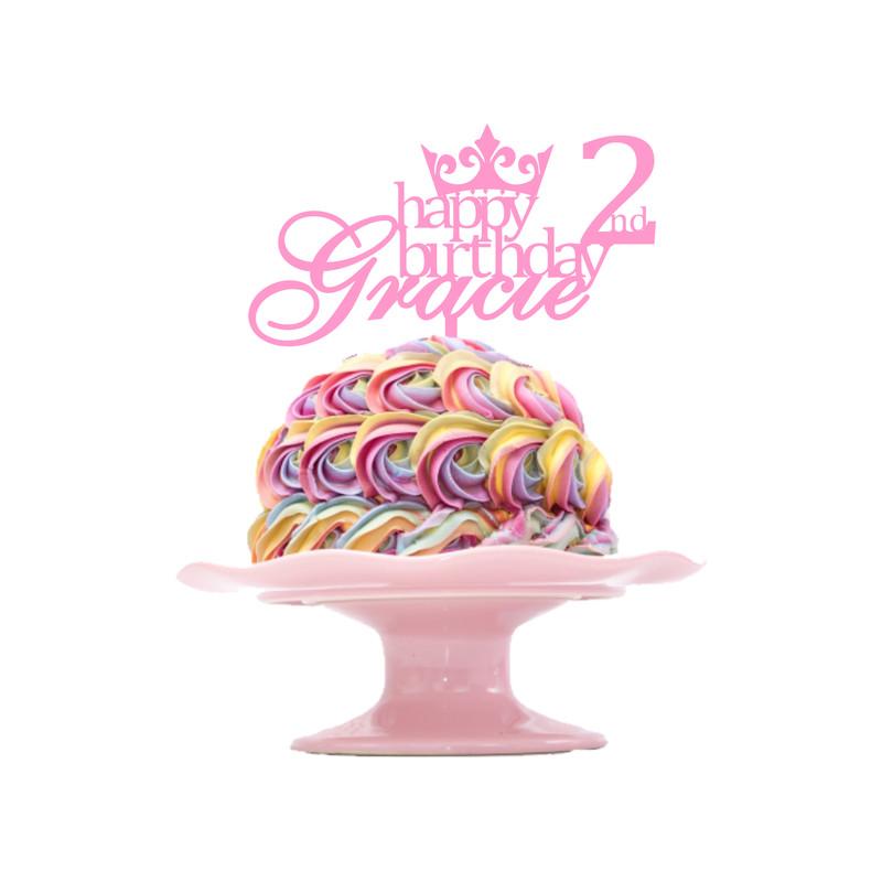 Children's Birthday Cake Topper Design 8 - Princess
