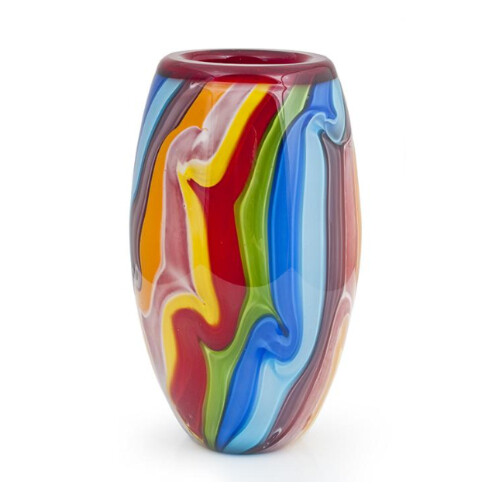 Coloured Glass Vase Confectionery by Zibo