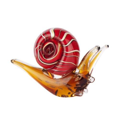 Snail Glass Art Sculpture by Zibo