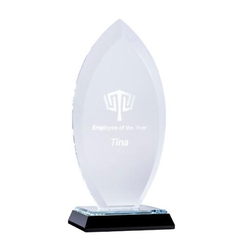 Flame Mirror-Based Glass Trophy – MBG-01A, MBG-01B & MBG-01C