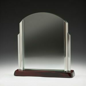 Deco Glass and Timber Trophy - CG319