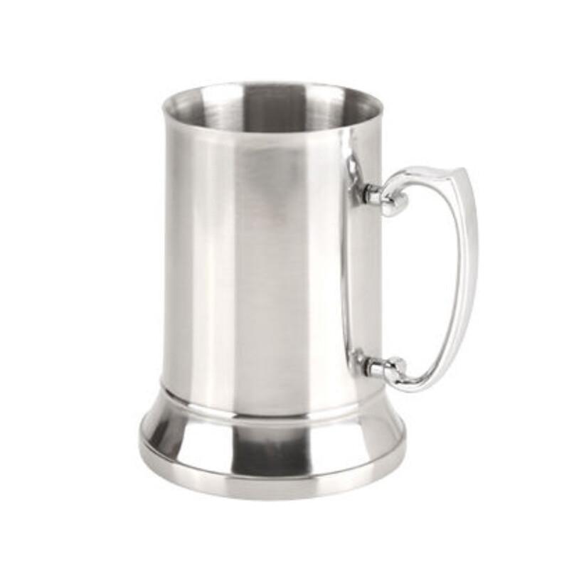 Stainless Steel Beer Mug 450mls